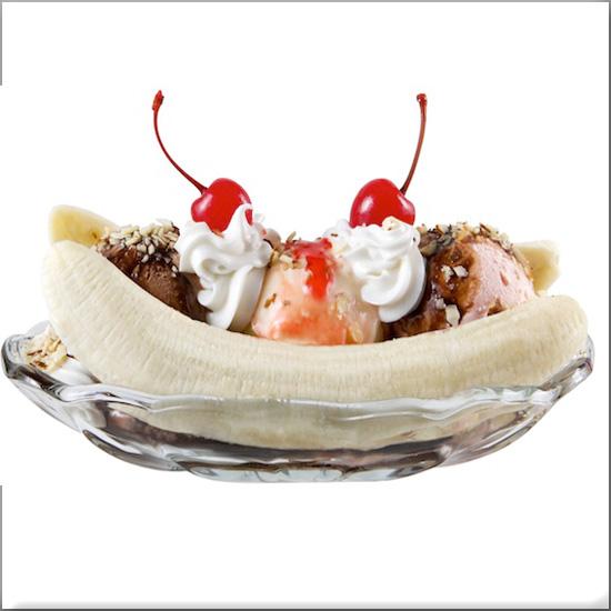 Banana split al tris di gelato post image