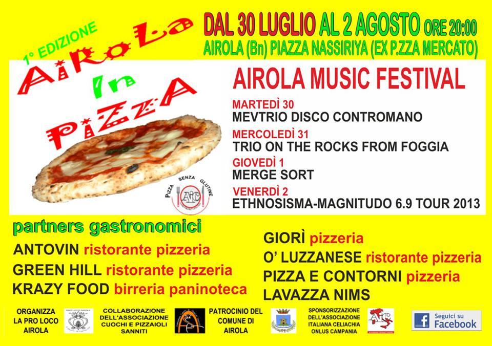 Airola in Pizza 2013, dal 30 luglio al 2 agosto ad Airola (Bn) post image
