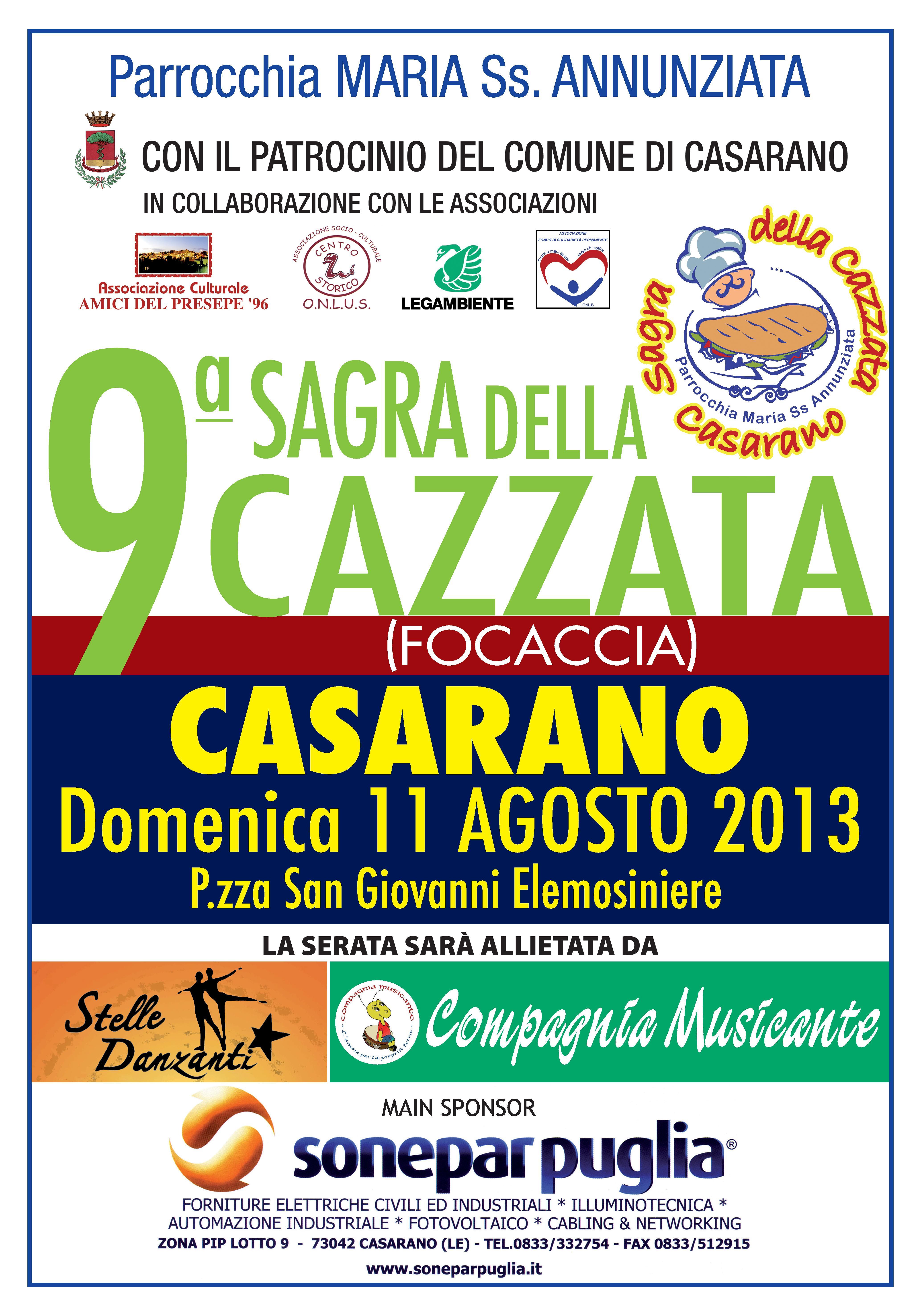 Sagra della focaccia 2013, l'11 agosto a Casarano (Le) post image