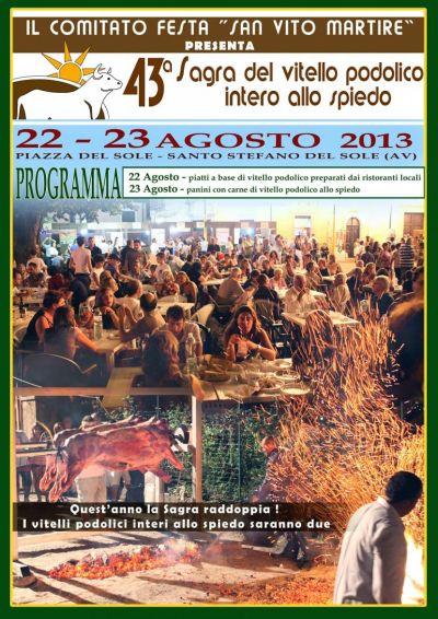 Sagra del vitello Podolico allo spiedo 2013: il 22 e 23 agosto a S.Stefano del Sole (Av) post image