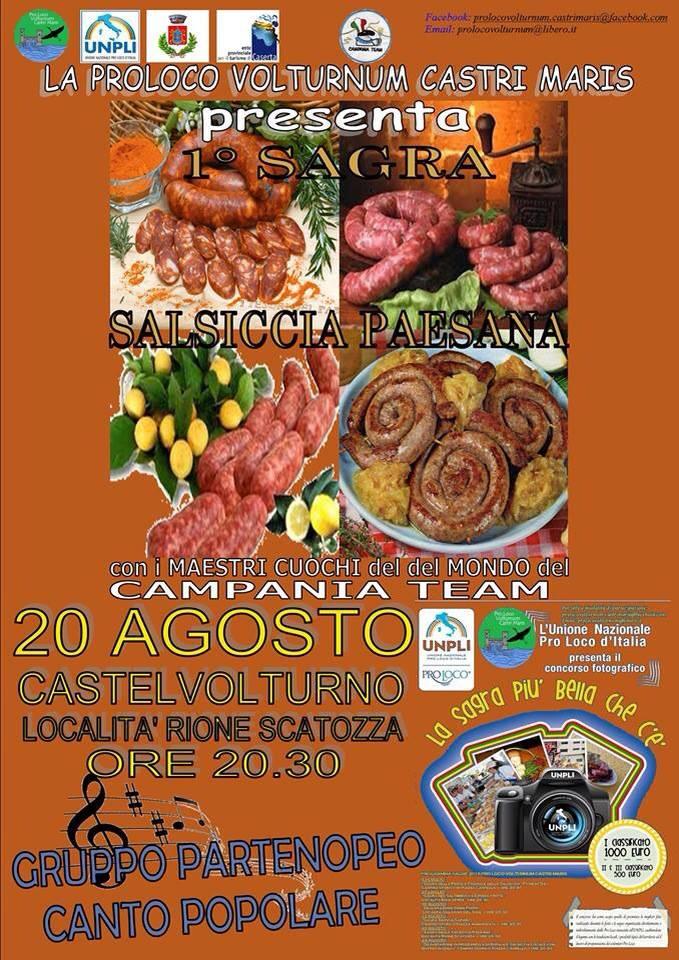 Sagra salsiccia paesana, il 20 agosto 2013 a Castel Volturno (Ce) post image