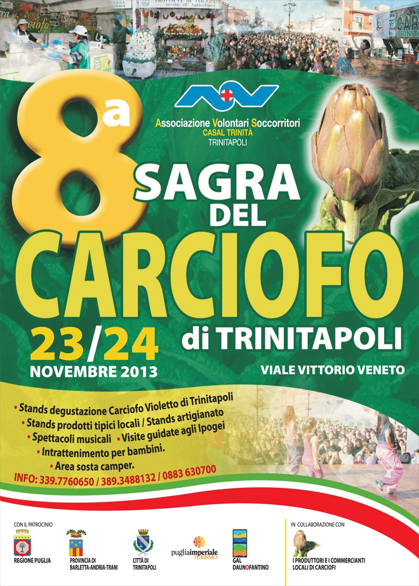 Sagra del Carciofo, dal 23 al 24 novembre 2013 a Trinitapoli (Fg) thumbnail