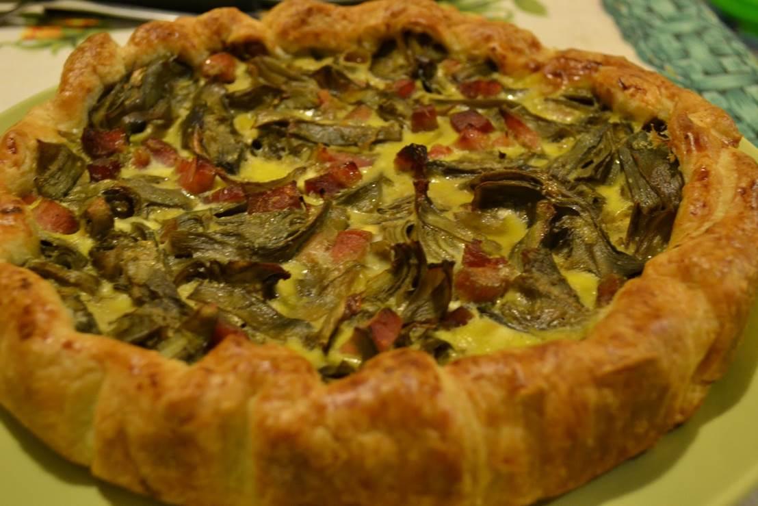 Torta salata di carciofi e prosciutto cotto thumbnail