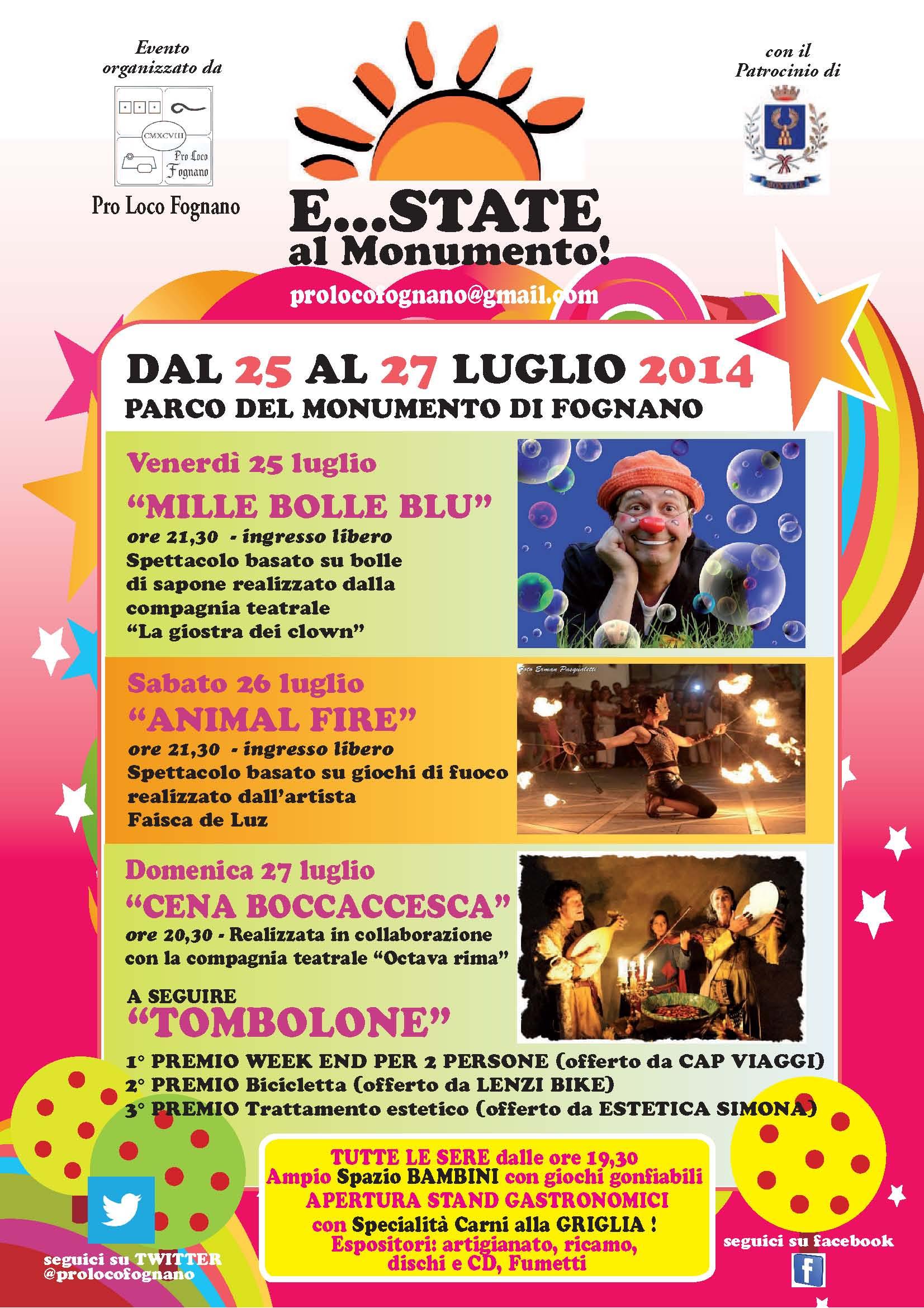 E…state al monumento, dal 25 al 27 luglio 2014 a Fognano (PT) thumbnail