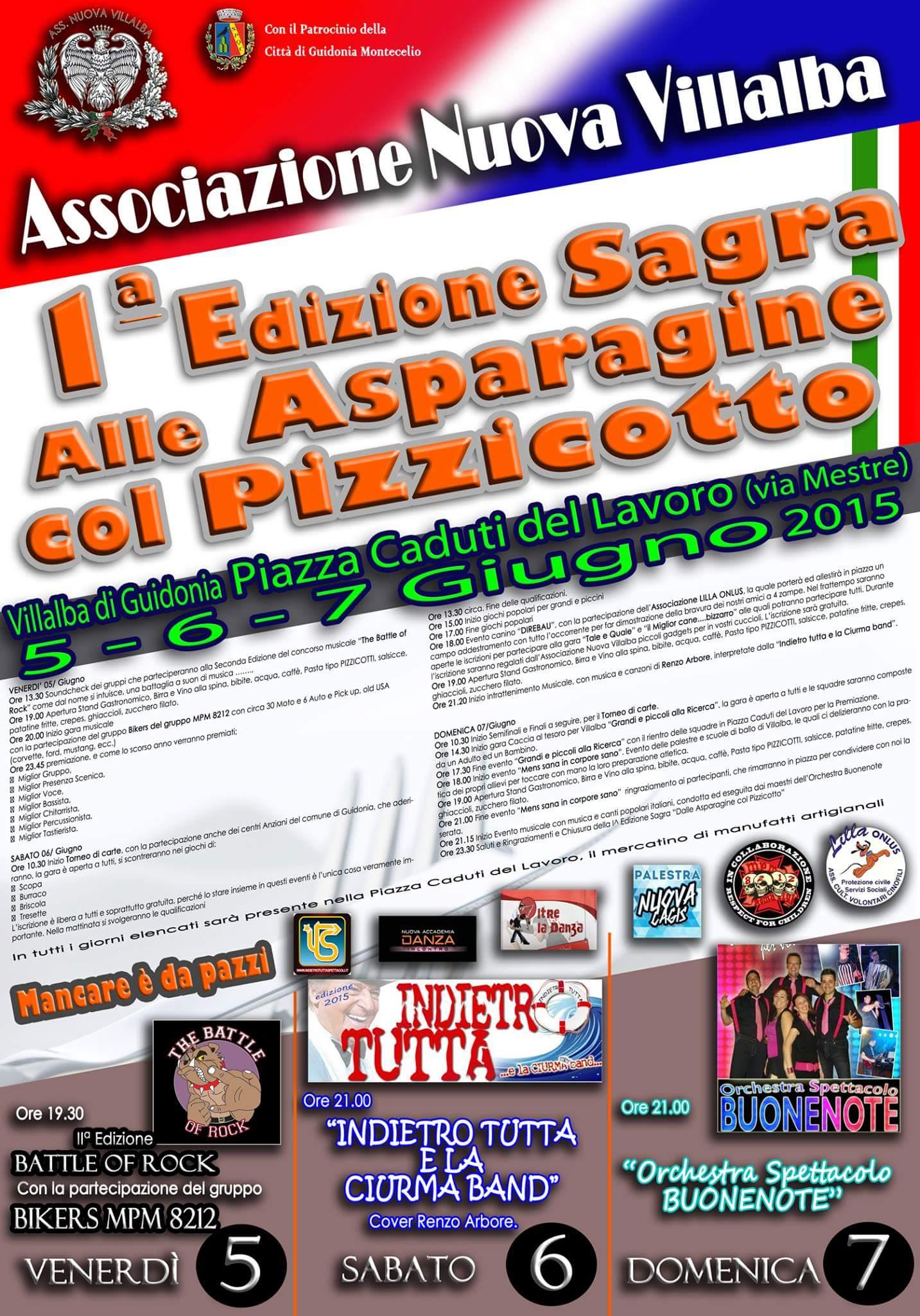 I sagra asparagine col pizzicotto, dal 5 al 7 giugno 2015 a Guidonia Montecelio (Rm) thumbnail