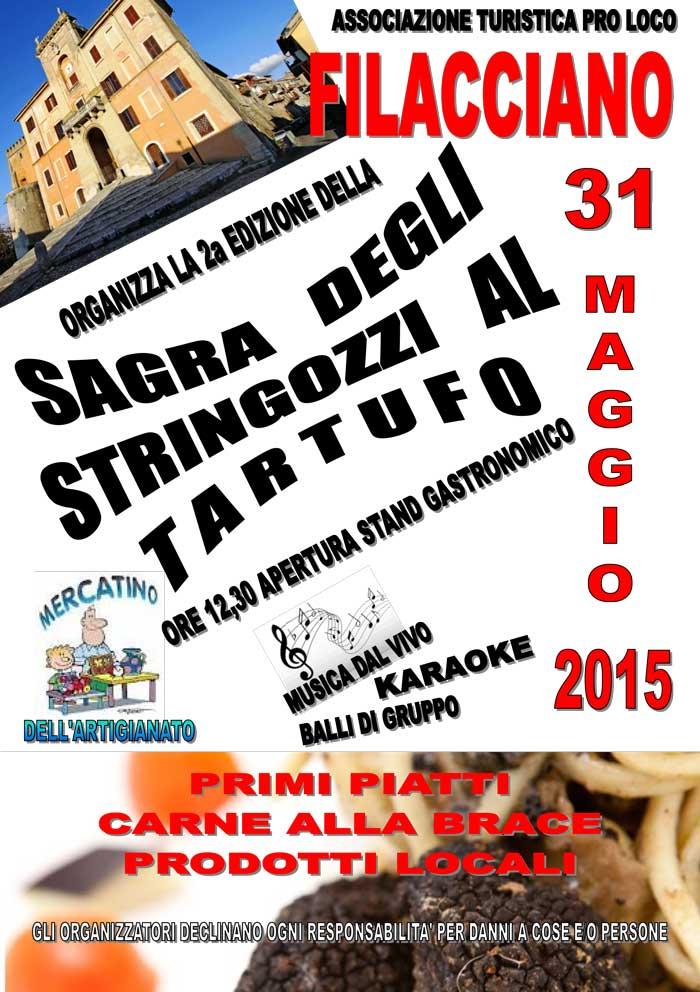 Sagra degli stringozzi al tartufo a Filacciano (Rm) il 31 maggio 2015 thumbnail